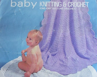 Baby circular shawls knit and crochet