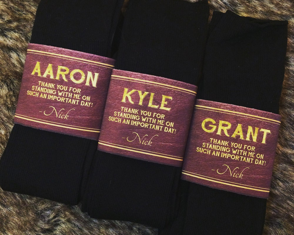 Groomsman Best Man Usher Gift Groomsmen Socks Personalized