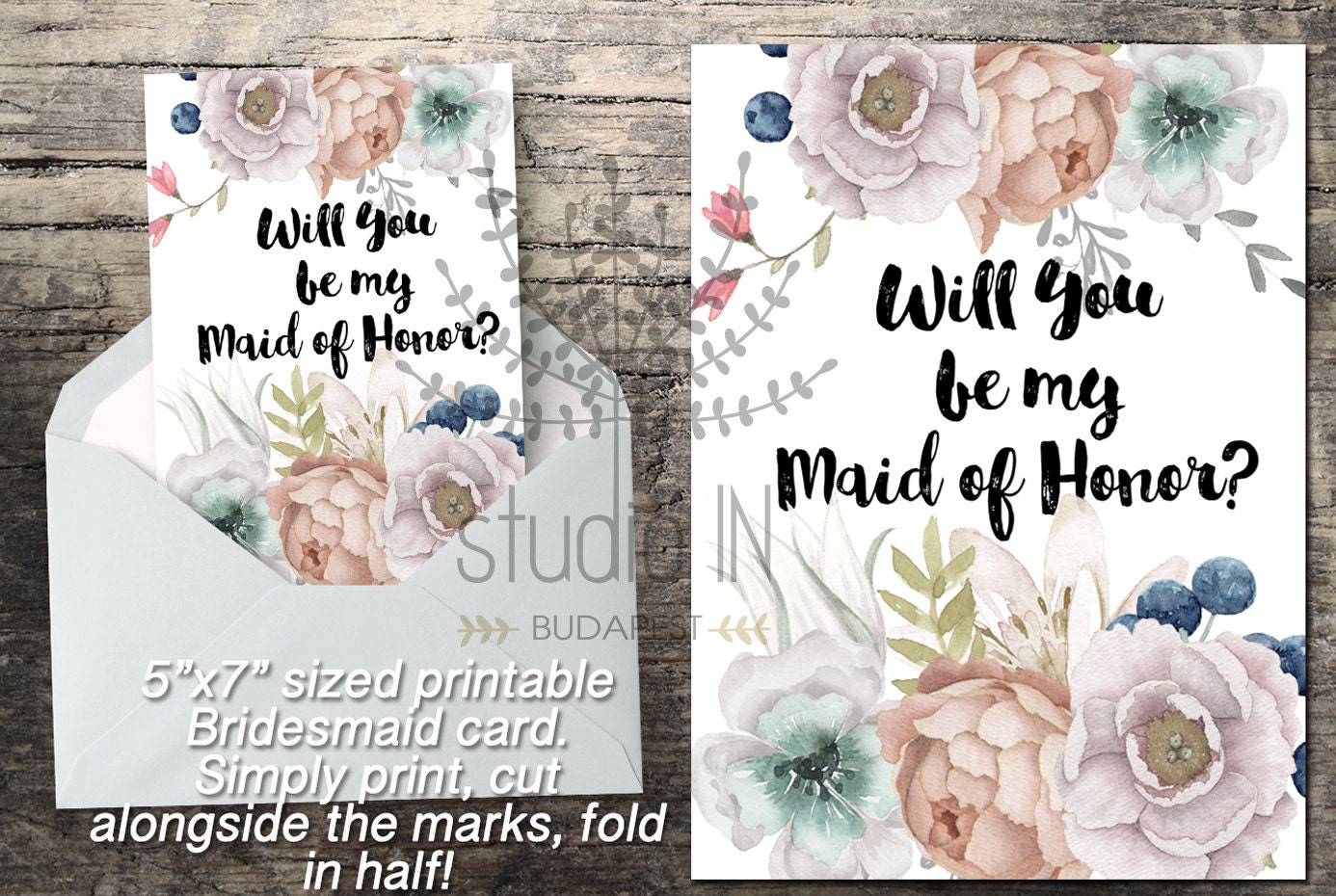 How To Be The Best Maid Of Honor: Will You Be My Maid Of Honor Printable Maid Of Honor Card
