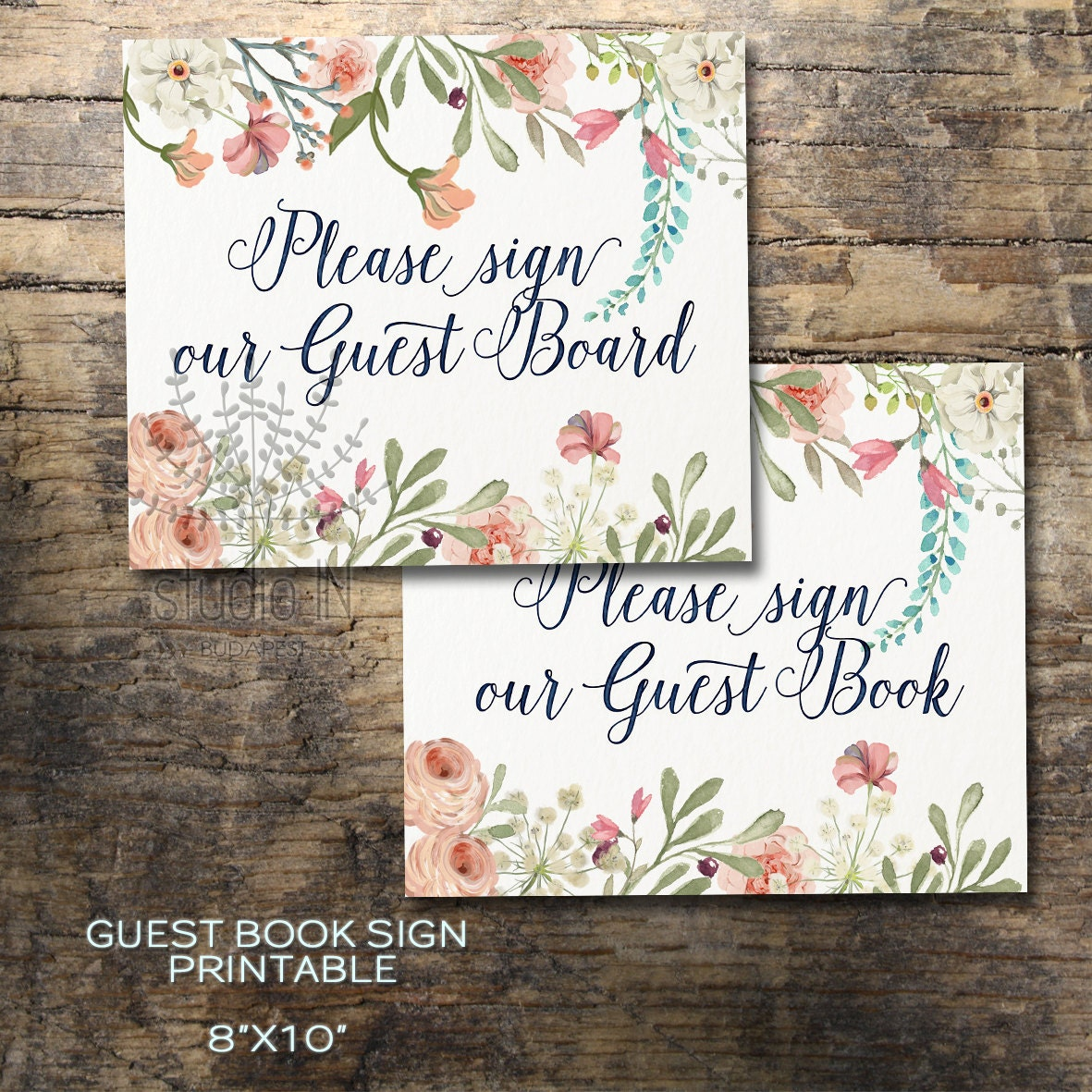 Wedding Guest Book Where It S Your Guests That Sign Their: Printable Wedding Guest Book Sign Floral Guest Book Sign