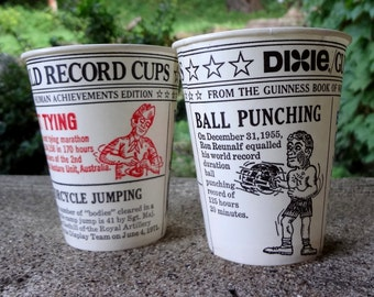 1975 Dixie Cups // Guinness World Record // Human Achievements Edition // Vintage Kitchen