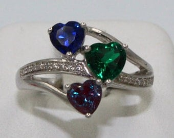 Triple Heart Ring -