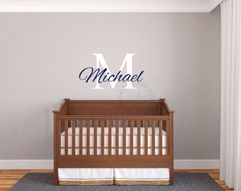 Name wall decals Kid's name wall sticker Nursery name wall decal Custom name wall   decal Monogram name wall decals