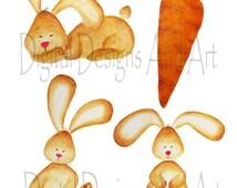 Watercolor bunny clipart, Rabbit clipart, Bunny clip art, Cute rabbit clipart,Bunny nursery art, Bunny illustration, Rabbit illustration