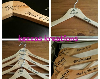 Customised Wooden Wedding Coat Hanger