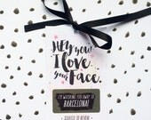 Personalised Girlfriend or Boyfriend Mini Scratch Card - I Love Your Face - Husband - Girlfriend - Wife - Valentine's Day - Birthday