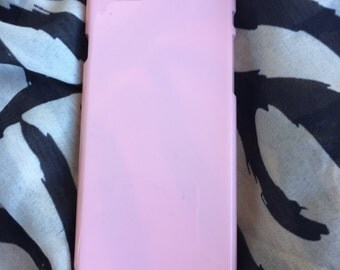 DIY light pink hard plastic for iphone 6 case. for deco phone decoden and bling. cover pink hard plastic stick for garnish