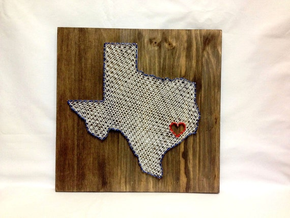 texas any state string art wall art texas home decor by oneroots. Black Bedroom Furniture Sets. Home Design Ideas