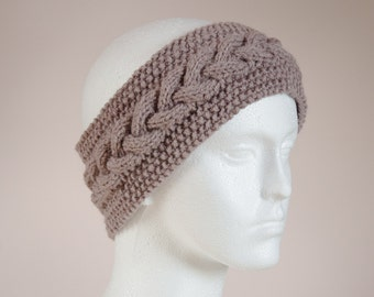 Knit Ear Warmer - Boho Headband Brown - Student Gift - Womens Autumn Accessories - Brown Head Band - Stocking Fillers Womens Gift for Her