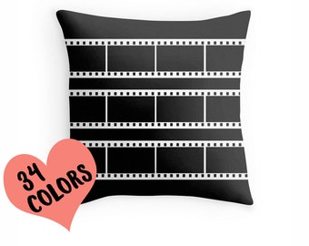 Film Reel Pillow, Movie Reel Pillow, Theatre Toss Pillow, Theatre Room Decor, Movie Pillow Cover, Movie Pillow, Movie Pillow Case