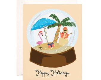 Christmas Cards: Handmade Tropical Christmas Greeting Card