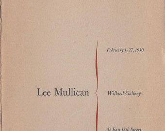 Lee Mullican MCM Artist Mid Century Modern Abstract Painter Willard Gallery New York Premier Free US Shipping Dynaton Movement 1950 New York