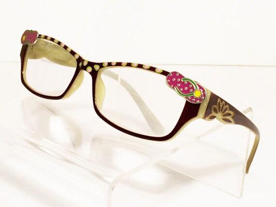 flip flop reading glasses funky eyeglasses
