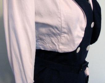 Vintage 4th July Suit 1940s Dress with Bolero Nautical New LookPatriotic Suit
