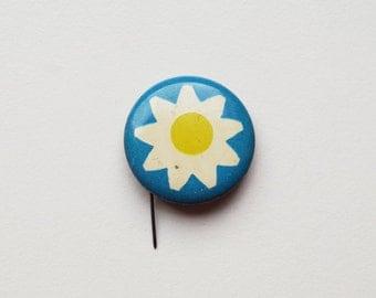 Vintage 2 cm Soviet era pins pinback buttons brooch badge token clasp pinion pin button cordon band medallion pinback floral flowe
