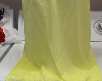 SALE Sheer Neon Yellow Nightie Chemise Gown Large