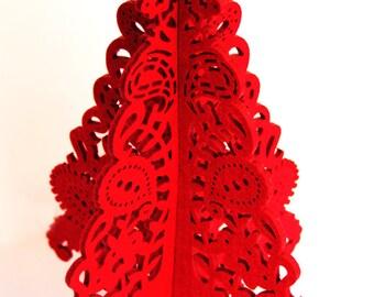 Red chrismas tree