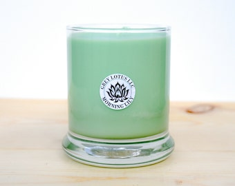 Lily & Lilac Candle    Hand Poured    Organic Soy Candle // 9 oz. Glass