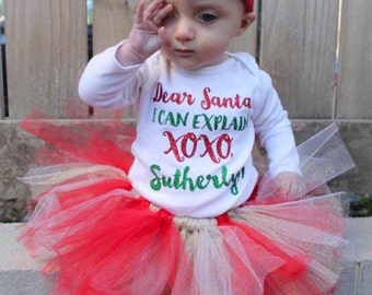 Red and glitter gold tutu, baby tutu, Christmas tutu, Valentines Day tutu, glitter tutu, Baby shower gift, tutus for girls
