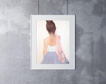 Ballerina Print, 11 x 14, Oil Painting, Original Art, Giclee Fine Art Print, Dancer Painting, Dance Art, Ballet Painting, Ballet Print
