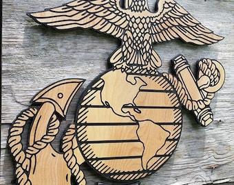 USMC Semper Fi Marine Wooden Wall hanging Marine Decor