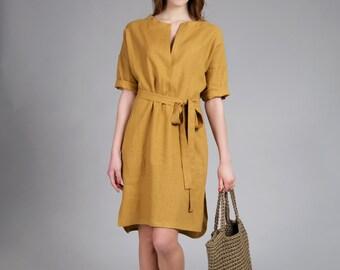 linen tunic, shirts dress, tunic dress, linen dress, linen tunic, linen shirts dress, pure linen, natural linen dress, leinen kleider, dress