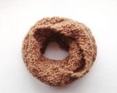 Scaldacollo lavorato a maglia, Regalo per Lei, Sciarpa Baby Alpaca da donna, Sciarpa Marrone, Scalda collo artigianale 100% Baby Alpaca