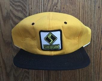 Vintage Sheridan Trucker Hat Snapback Baseball Cap Patch