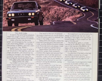 1982 BMW 528e Ad from 1982 (RT82-107)
