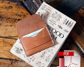Leather Flap Wallet Digital PDF Template - Build Along Video Tutorial (8.5 x 11)