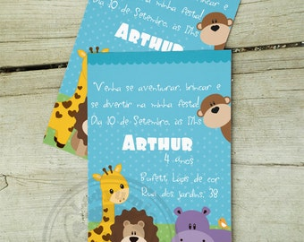 Zoo Printable Invitation Zoo Party Kids Party