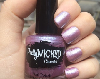 Lilac Shimmer Nail Polish, Penelope Polish, Lilac Purple Nail Polish, Lavender Nail Polish, Purple Glitter Nail Polish, Sheer Nail Polish