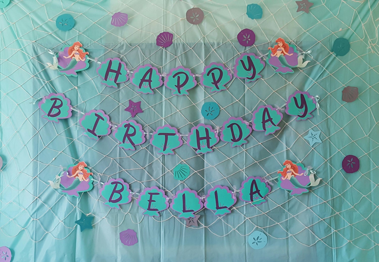 the little mermaid birthday banner    under the sea party