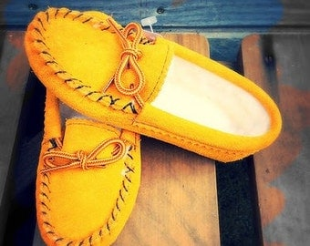 Handmade Children's Moccasin Slippers