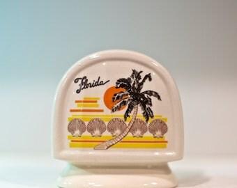 Retro Florida Napkin or Letter Holder