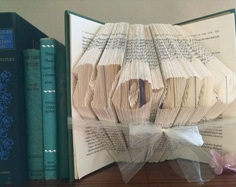 Folded Book Art Sculpture - Home - Unique Home Decor
