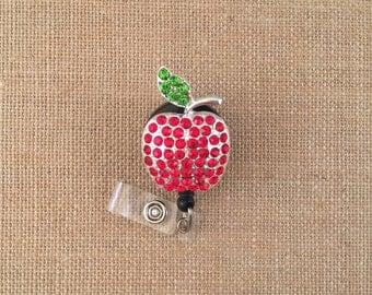 Apple-Id Badge Holders-Teacher Badges-Retractable Badges-Badge Reels-Apple Badge-Cute Badges-Teacher Gift-Retractable Badges-Teacher Gifts