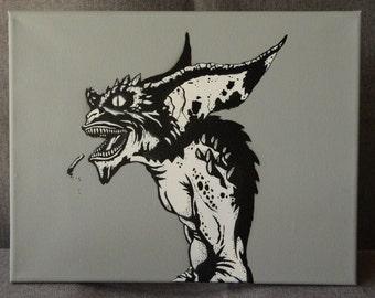 Gremlins Spray Paint Art 11x14 Canvas