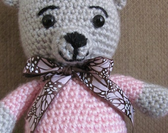Handmade, Crocheted Girl Teddy Bear