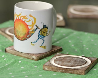 Funny Frogs  Illustration Mug
