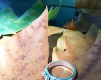 FREESHIP, pebble ring, handmade ring, silver pebble ring, boho rings, stackable rings, pebble stacking rings, silver stacking rings, stacker