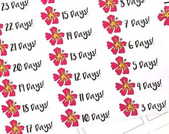 Vacation Countdown (Glossy or Matte Stickers)