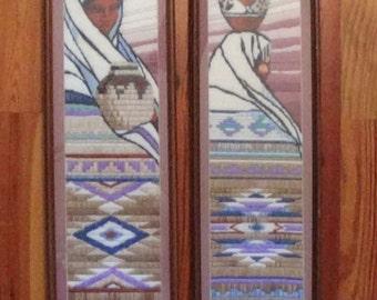 Native American Southwest Stitched Panels