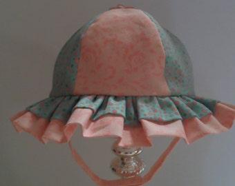 Sunhat, Baby Girl Sunhat, Baby Shower Gift, Baby Bonnet, Handmade