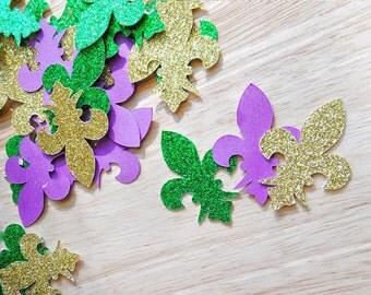 Mardi Gras Confetti + Fleur De Lis + Party + 50ct.