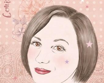 Illustrated portrait - custom portrait on request