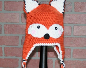 Little Fox Crocheted Hat - FREE SHIPPING