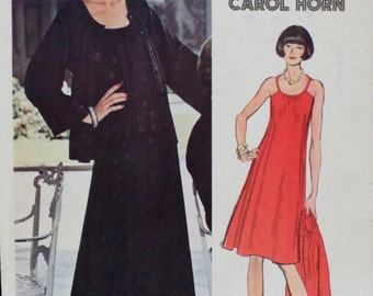 Vintage Carol Horn Jacket & Dress Pattern from Very Easy Vogue - Size 14