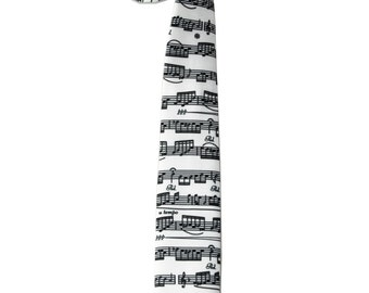 Music tie - Men's skinny Necktie - Gift For Musician