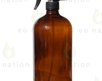 Extra Large 32 oz. Amber Glass Spray Bottle